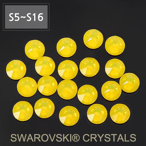 [스와로브스키 크리스털 원형 플랫백] 레몬 (SS5호~SS16호)
