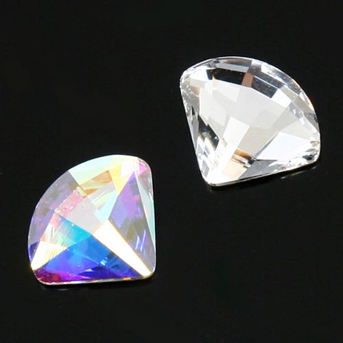 스와로브스키 크리스털  2714 팬 플랫백 스톤 (다이아몬드 크리스탈)